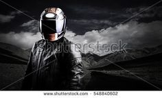 Helmet with mountain background.