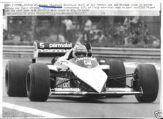 NELSON-PIQUET-BRABHAM-BMW-ASSOCIATED-PRESS-WIRE-PHOTOGRAPH-RARE-ITALIAN-GP-1983 Photographs, Wire, Racing, Bmw, Photos, Cord, Electrical Cable