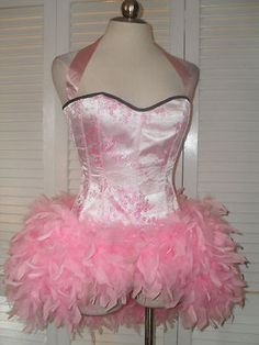 Cabaret Moulin Rouge Burlesque Vegas Showgirl Halloween Dance Costume Dress M L | eBay