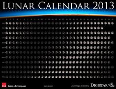 Lunar Calender for 2013 Calender 2013, Moon Calendar, Google Calendar, Sabbats, Scientific Method, Cool Posters, Moon Phases, Book Of Shadows, Stargazing