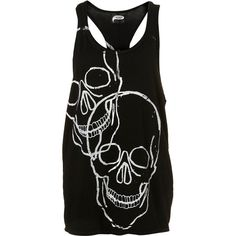 Big Skulls Vest By Illustrated People** ($50) ❤ liked on Polyvore
