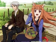 Spice and wolf. Just started this show, so far i love it!