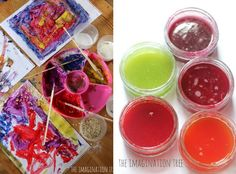 TONS of paint recipes for kids - part of a series with over 50 recipes for DIY play.