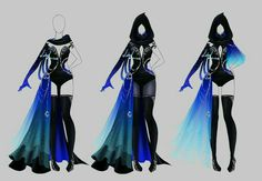 Outfit design - 204 - closed by LotusLumino - Fantasy - mode Dress Drawing, Drawing Clothes, Outfit Drawings, Manga Clothes, Fashion Design Drawings, Fashion Sketches, Anime Outfits, Cool Outfits, Kleidung Design