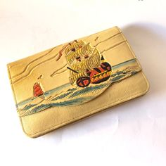 Leather Tooling, Tooled Leather, Button Cards, Leather Clutch Bags, Sea And Ocean, Me Clean, One And Other, Lining Fabric, Nautical