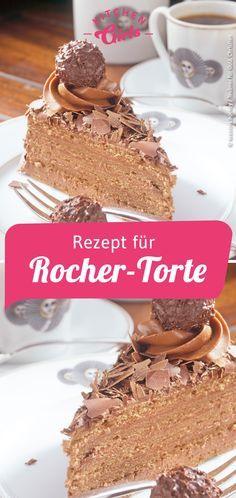 Rezept für Rocher-Torte Recipe for Rocher pie Beef Pies, Mince Pies, Cupcakes, Torte Au Chocolat, Chocolate Navidad, Green Curry Chicken, Red Wine Gravy, Torte Recipe, Flaky Pastry