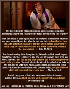 The Sacrament of Penance/Confession/Reconciliation in Scripture. Catholic Answers, Catholic News, Sacrament Of Penance, Catholic Sacraments, Saint Quotes, Inspirational Prayers, Religious Images, Catholic Quotes, Divine Mercy
