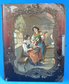 Celluloid Photo Album Renaissance Musicians With Photos Late Victorian 1890s Cabinet Cards
