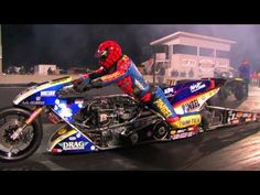 "Top Fuel Nitro Motorcycle Import vs Harley - Larry ""Spiderman"" Mcbride 5.83et @ 232mph +http://brml.co/1B0vRQl"
