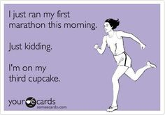 funny pictures - funny quotes - I just ran my first marathon this morning