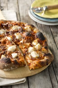 Paula Deen Scallop and Bacon Pizza