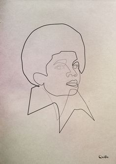 Quibe - One Line Michael Jackson  #drawing #art #line #Quibe
