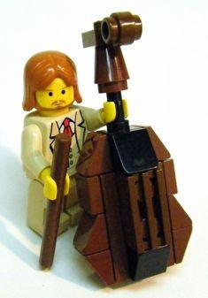 LEGO Express — LEGO contrabass with bow (via oringosun)