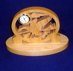 Horloge de bureau Mini OIE Handcrafted de bois par KevsKrafts