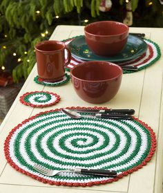 Pinwheels for Table & Tree free crochet pattern with video tutorial