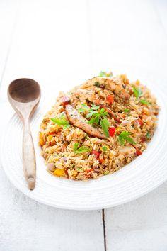100 % Végétal: Jambalaya aux crevettes vegan