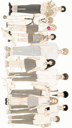 Cute Couple Art, Anime Love Couple, Cute Anime Couples, Love Illustration, Character Illustration, Aesthetic Art, Aesthetic Anime, Manga Art, Anime Art