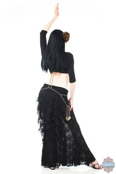 Womens Belly Dance Mermaid Aurelia Long Lace by SakkaraClothing