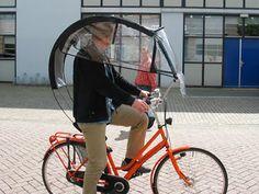 Zo fiets je door de regen
