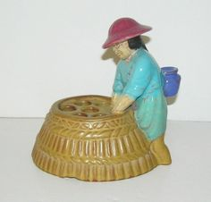 California Faience Flower Frog Margaret Clayes The Chinese Launderer 1920