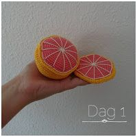 Crochet Food, Knit Crochet, Grapefruit, Crochet Patterns, Veggies, Knitting, Floral, Toys, Legumes
