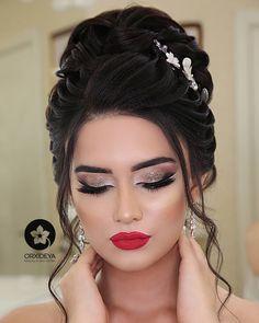 # Gelinmakyaj's # bridal hair Gardening could be a highly effective beneficial Bridal Hair Buns, Bride Makeup, Wedding Hair And Makeup, Hair Makeup, Hair Up Styles, Long Hair Wedding Styles, Indian Bridal Hairstyles, Bride Hairstyles, Engagement Hairstyles