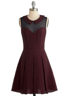 Served on Skates Dress in Burgundy, #ModClothLBD. Perfect with a string of pearls