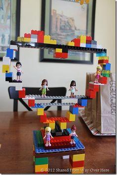 688832e3381b Lego Friends birthday party design ideas - I love this centerpiece