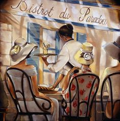 "Trish Biddle (American) ""Bistro du Paradou"""