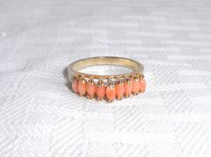 1970s Vintage Simulated Coral Ring Size 6 1/2 by MyVintageHatShop