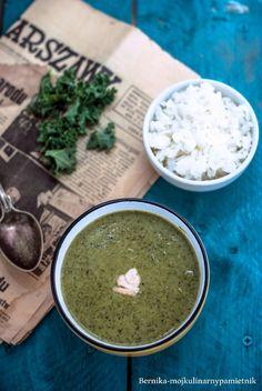 Cream of kale, broccoli with coconut milk