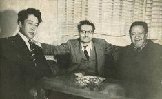 Siqueiros, Orozco y Rivera, de la serie fotos personales, que posee el Instituto Nacional de Estudios de las Revoluciones de México