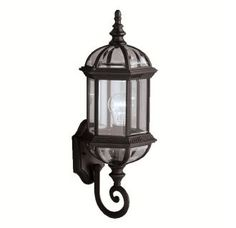 """View the Kichler 9736 Barrie Single Light 22"""" Tall Outdoor Wall Sconce with Clear Beveled Glass Panels at LightingDirect.com."""