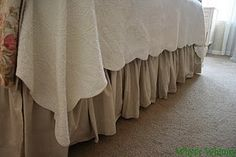 drop cloth dust ruffle