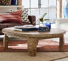 Bullock Cart Wheel Coffee Table At Pottery Barn - Furniture - Coffee & Accent Tables - Coffee Tables Round Patio Table, Round Wood Coffee Table, Coffee Tables, Coffee Table Pottery Barn, Reclaimed Wood Coffee Table, Bullock Cart, Home Furniture, Wooden Furniture, Outdoor Furniture