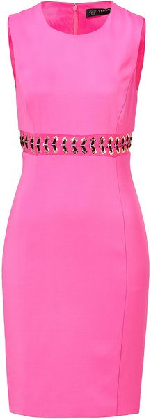 versace Hot Pink Laced Sheath Dress - Love pink ~ love this.