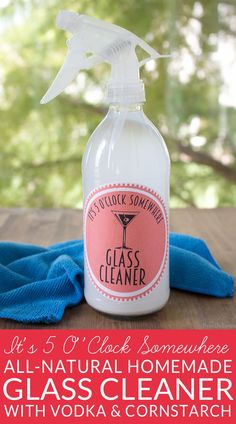 It's 5 O'clock Somewhere Homemade Glass Cleaner