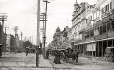 New Orleans, LA - Canal Street, 1890's.