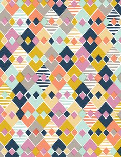 Nadia Hassan featured on Pattern Observer, print, geo, colour pallet, diamond, geometric, repeat, graphic