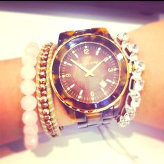 Tortoise shell Michael Kors #armparty