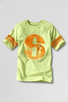 I LOVE these colors. The shirt would look so cute and a little red-headed guy! Just $9.97. Boys' Short Sleeve Summer 6 Graphic T-shirt from Lands' End