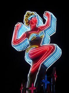 Vintage Las Vegas neon sign by Jan Raczycki