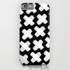 Black xxx iPhone & iPod Case, white plus pattern, plus Iphone cover, trend cover, black & white iphone cover, monochrome accessory