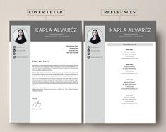 This Professional resume template is just what you need to freshen up that old resume! Creative and Sophisticated while still being professional. Cv Simple, Simple Resume, Baker Middle School, Modern Cv Template, Creative Cv, Resume Writing Tips, Cv Design, Cover Letter Template, Professional Resume
