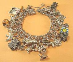 Vtg Sterling Silver Big Top Circus Charm Bracelet Animals Calliopes 117 GR 27CHM | eBay