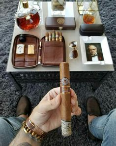 Good Cigars, Cigars And Whiskey, Cigar Art, Cigar Cases, Cigar Accessories, Cigar Room, Pipes And Cigars, Cigar Smoking, Gentleman Style