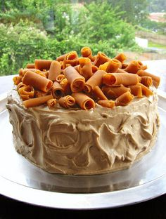 Oh yum.  Perfect fall flavors in this cake.  Maple Pumpkin Cake with Pumpkin Fudge Curls by cravinmaven, image from Flickr.  Link has recipe