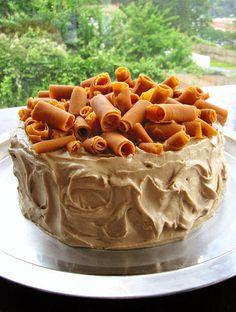 Maple Pumpkin Cake with Pumpkin Fudge Shavings