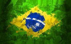 Brazil Flag Background