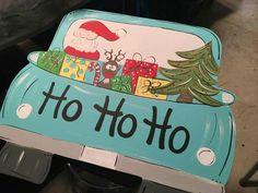 Santa truck door hanger